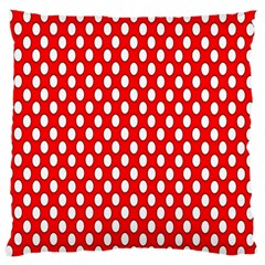 Red Circular Pattern Standard Flano Cushion Case (two Sides) by AnjaniArt