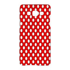 Red Circular Pattern Samsung Galaxy A5 Hardshell Case  by AnjaniArt