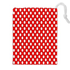 Red Circular Pattern Drawstring Pouches (xxl) by AnjaniArt