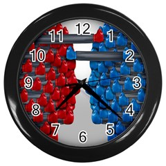 Red Boxing Gloves And A Competing Wall Clocks (black) by AnjaniArt
