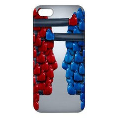Red Boxing Gloves And A Competing Apple Iphone 5 Premium Hardshell Case by AnjaniArt