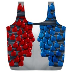 Red Boxing Gloves And A Competing Full Print Recycle Bags (l)  by AnjaniArt