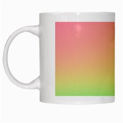 The Walls Pink Green Yellow White Mugs by AnjaniArt