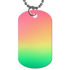 The Walls Pink Green Yellow Dog Tag (two Sides) by AnjaniArt