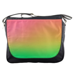 The Walls Pink Green Yellow Messenger Bags by AnjaniArt