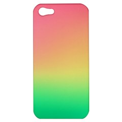 The Walls Pink Green Yellow Apple Iphone 5 Hardshell Case by AnjaniArt