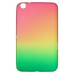 The Walls Pink Green Yellow Samsung Galaxy Tab 3 (8 ) T3100 Hardshell Case  by AnjaniArt