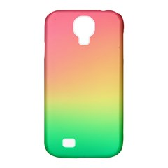 The Walls Pink Green Yellow Samsung Galaxy S4 Classic Hardshell Case (pc+silicone) by AnjaniArt