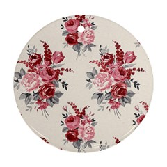 Rose Beauty Flora Round Ornament (two Sides)  by AnjaniArt