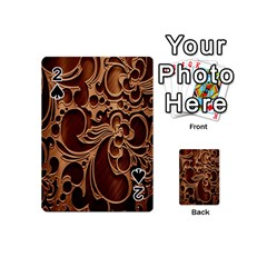 Tekstura Twigs Chocolate Color Playing Cards 54 (Mini)  by AnjaniArt