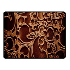 Tekstura Twigs Chocolate Color Double Sided Fleece Blanket (small)  by AnjaniArt