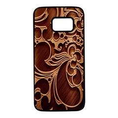 Tekstura Twigs Chocolate Color Samsung Galaxy S7 Black Seamless Case