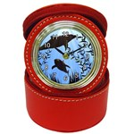 SWIMMING DOLPHINS JEWELRY CASE ALARM CLOCK (RED)