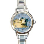 POLAR BEAR CUB & MOTHER ROUND ITALIAN CHARM WATCH