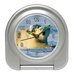POLAR BEAR CUB & MOTHER ALARM CLOCK (SILVER)