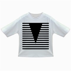 Black & White Stripes Big Triangle Infant/toddler T Shirts by EDDArt