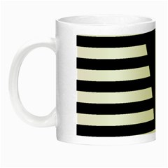 Black & White Stripes Big Triangle Night Luminous Mugs by EDDArt