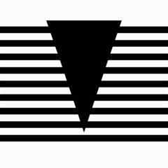 Black & White Stripes Big Triangle Canvas 36  X 48   by EDDArt