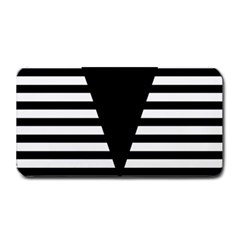 Black & White Stripes Big Triangle Medium Bar Mats by EDDArt