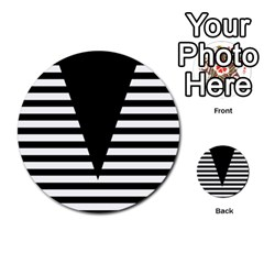Black & White Stripes Big Triangle Multi Purpose Cards (round)  by EDDArt