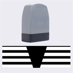 Black & White Stripes Big Triangle Name Stamps by EDDArt