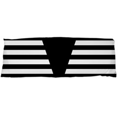 Black & White Stripes Big Triangle Body Pillow Case (dakimakura) by EDDArt