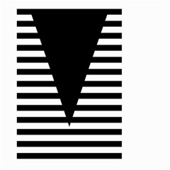 Black & White Stripes Big Triangle Large Garden Flag (two Sides) by EDDArt