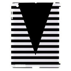 Black & White Stripes Big Triangle Apple Ipad 3/4 Hardshell Case (compatible With Smart Cover) by EDDArt