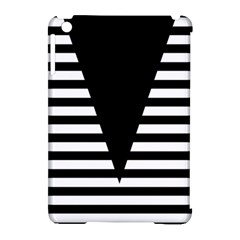 Black & White Stripes Big Triangle Apple Ipad Mini Hardshell Case (compatible With Smart Cover) by EDDArt