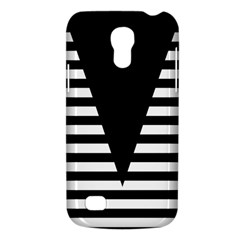 Black & White Stripes Big Triangle Galaxy S4 Mini by EDDArt