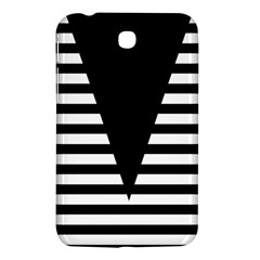 Black & White Stripes Big Triangle Samsung Galaxy Tab 3 (7 ) P3200 Hardshell Case