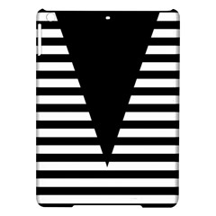 Black & White Stripes Big Triangle Ipad Air Hardshell Cases by EDDArt
