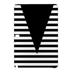 Black & White Stripes Big Triangle Samsung Galaxy Tab Pro 10 1 Hardshell Case by EDDArt