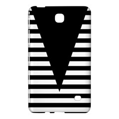 Black & White Stripes Big Triangle Samsung Galaxy Tab 4 (8 ) Hardshell Case  by EDDArt
