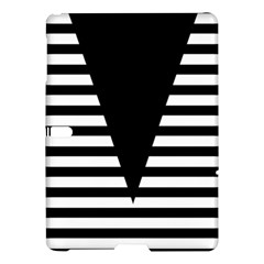 Black & White Stripes Big Triangle Samsung Galaxy Tab S (10 5 ) Hardshell Case  by EDDArt