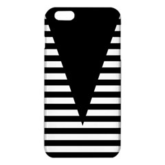 Black & White Stripes Big Triangle Iphone 6 Plus/6s Plus Tpu Case by EDDArt
