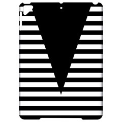 Black & White Stripes Big Triangle Apple Ipad Pro 9 7   Hardshell Case by EDDArt