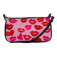 Valentine s Day Kisses Shoulder Clutch Bags by BubbSnugg