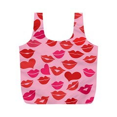 Valentine s Day Kisses Full Print Recycle Bags (m)  by BubbSnugg