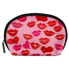 Valentine s Day Kisses Accessory Pouches (large)  by BubbSnugg