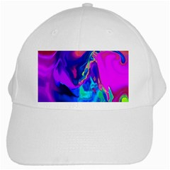 The Perfect Wave Pink Blue Red Cyan White Cap by EDDArt