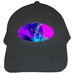 The Perfect Wave Pink Blue Red Cyan Black Cap by EDDArt