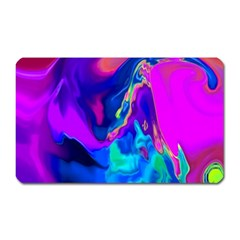 The Perfect Wave Pink Blue Red Cyan Magnet (rectangular) by EDDArt