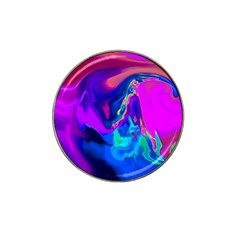 The Perfect Wave Pink Blue Red Cyan Hat Clip Ball Marker by EDDArt