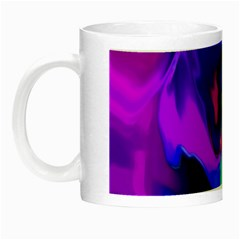 The Perfect Wave Pink Blue Red Cyan Night Luminous Mugs by EDDArt