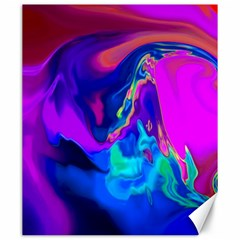 The Perfect Wave Pink Blue Red Cyan Canvas 20  X 24   by EDDArt