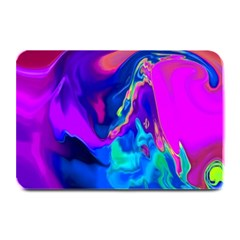 The Perfect Wave Pink Blue Red Cyan Plate Mats by EDDArt