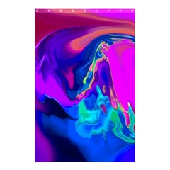 The Perfect Wave Pink Blue Red Cyan Shower Curtain 48  X 72  (small)  by EDDArt