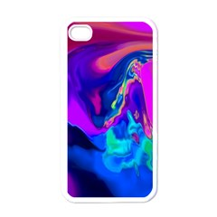 The Perfect Wave Pink Blue Red Cyan Apple Iphone 4 Case (white) by EDDArt