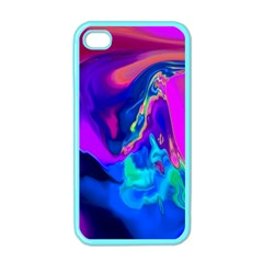 The Perfect Wave Pink Blue Red Cyan Apple Iphone 4 Case (color) by EDDArt